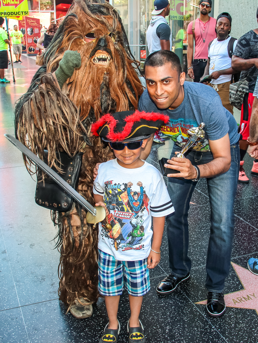 Shivam And Sukh With A Chewbacca Impersonator