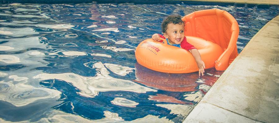 Shivam In His Swim Seat