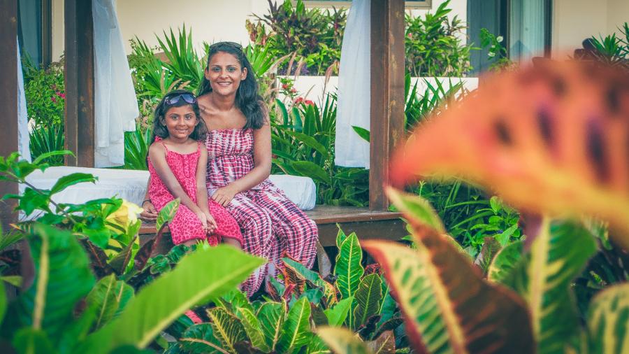 Shalini And I At A Cabana