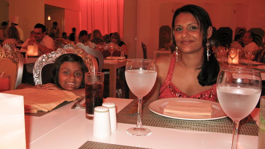Shalini And I At Portofino Restaurant